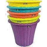 A2M Plastic Planter Pot, Multicolour, 8 in Diameter, 6 in Depth, 5 Pieces