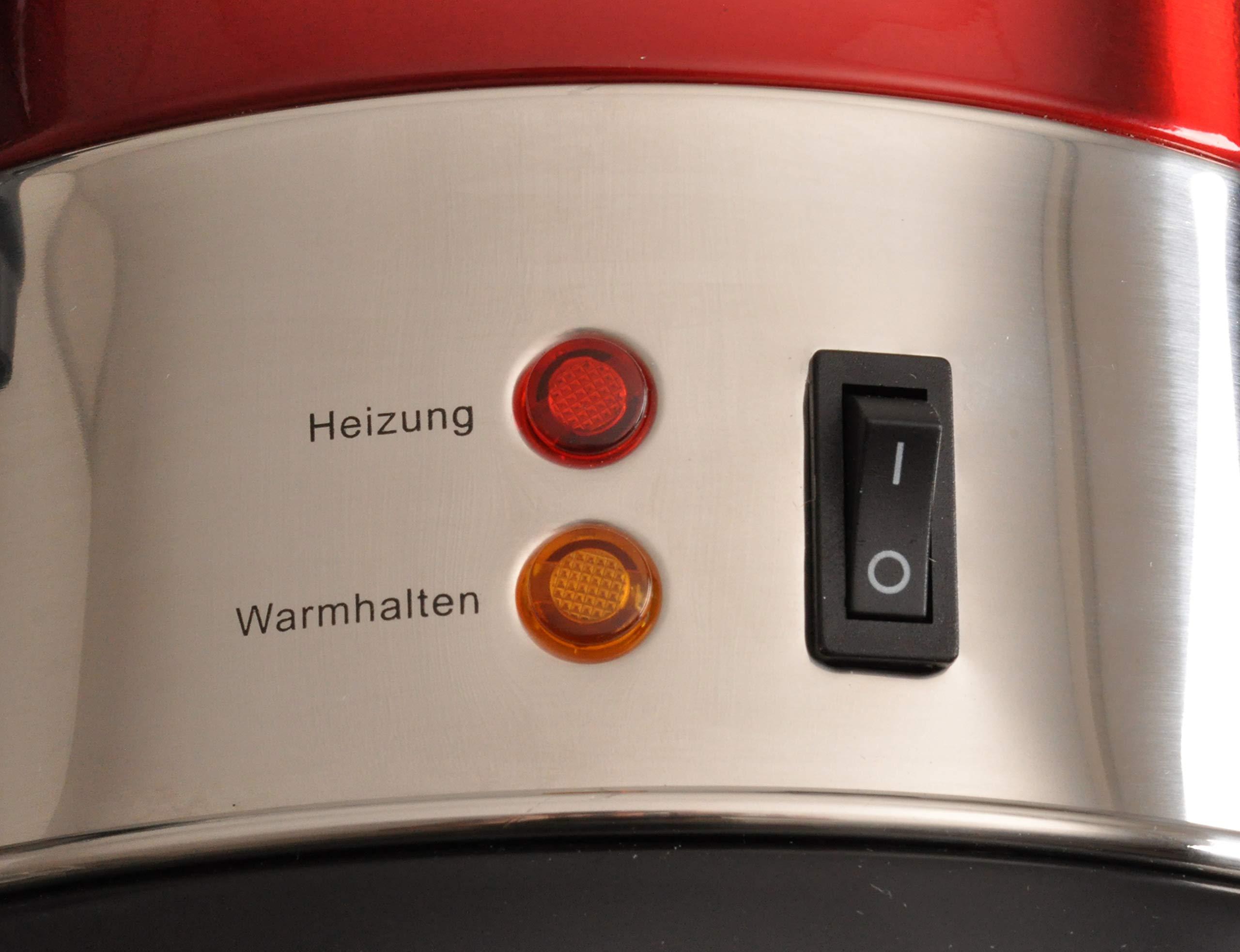 Team-Kalorik-TKG-GW-900-Heigetrnke-und-Glhweinautomat-Edelstahl-68-Liter-950-Metall-Kunststoff-68-liters-Metallic-rot