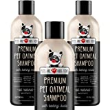 Pet Oatmeal Anti-Itch Shampoo & Conditioner In One! Smelly Puppy Dog & Cat Wash, Natural Ingredients & Hypoallergenic! Relief