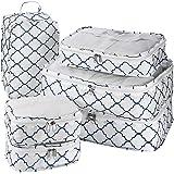 Lot de 6 cubes d'emballage de voyage - Lot de 6 organiseurs de bagage et système de cube de compression pour voyage avec sac