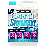 Pro-Kleen Profesjonalny szampon do dywanów i tapicerki – świeży zapach oceanu 5 l, wysoki koncentrat do czyszczenia – nadaje