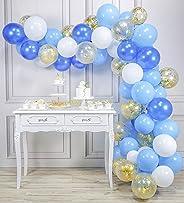 PartyWoo Ballon Bleu Blanc Or, 70 pcs 12 Pouces Ballon Bleu Marine, Ballons Bleus, Ballon Bleu Ciel, Ballon Bleu Roi, Ballon