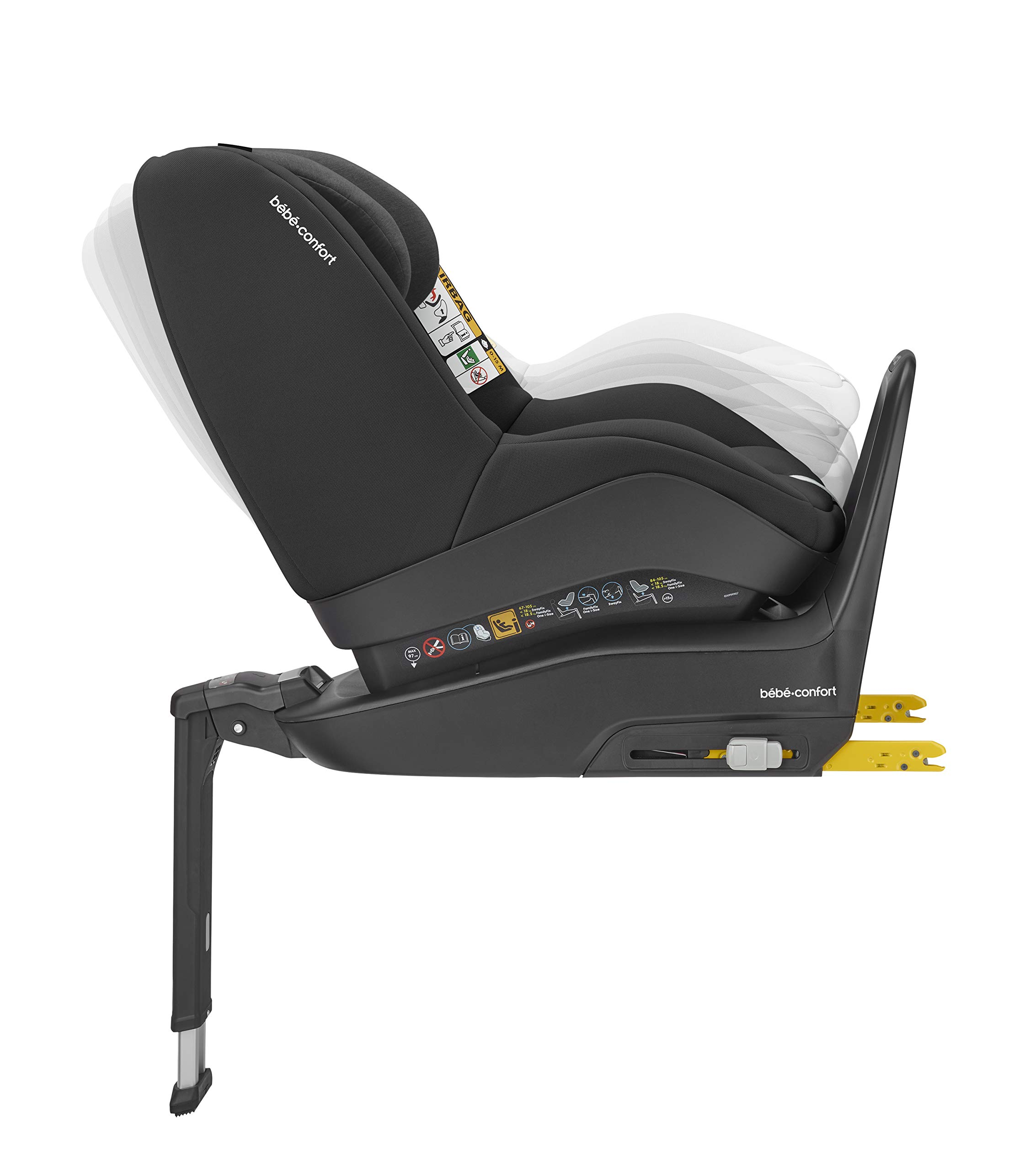 Bébé Confort Pearl Smart i Size 6.88 kg Bébé Confort Car seat 9-18 kg for children from 6 months to 4 years approx. height between 67 - 105 cm, approved i-size (ECE R129) Can be used in the opposite direction of travel up to 4 years (a backward mounted seat is 5 times safer) to protect baby's head and neck Car seat reclines into 4 positions in both directions for maximum comfort for your child. 5