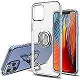 SORAKA Coque Transparent pour iPhone 12 Pro avec Anneau Rotatif 360 degrés et Plaque métallique pour Support Téléphone Voitur