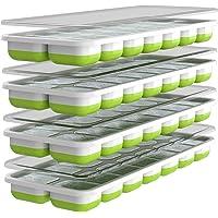 Bac à Glaçons Oliver's Kitchen – Set de 4 Bacs – Base Souple Pour une Libération Facile des Glaçons – Gagnez de la Place…