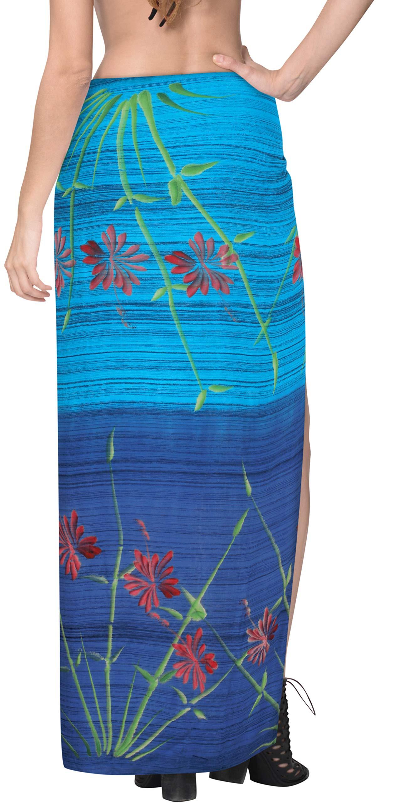 LA LEELA Rayon Coprire Costume da Bagno Avvolgente Sarong Tie Dye Un 3 spesavip