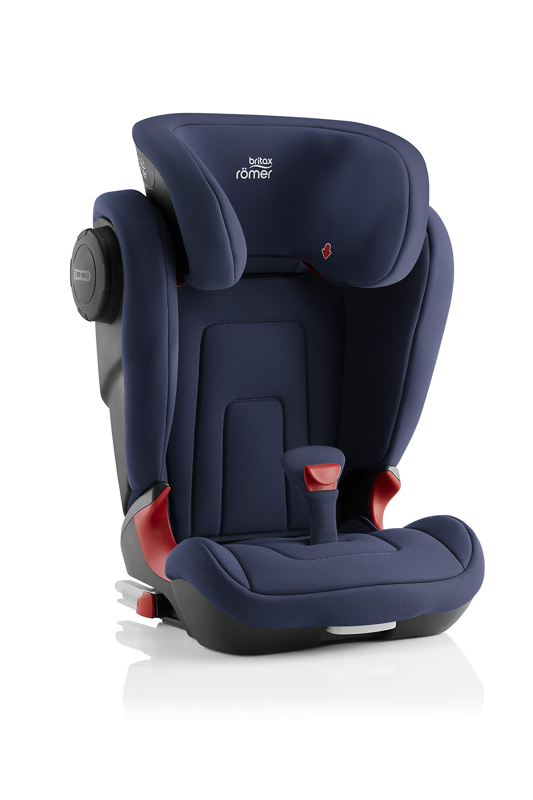 Britax Römer KIDFIX² S Group 2-3 (15-36kg) Car Seat - Moonlight Blue  Advanced side impact protection - sict offers superior protection to your child in the event of a side collision. reducing impact forces by minimising the distance between the car and the car seat. Secure guard - helps to protect your child's delicate abdominal area by adding an extra - a 4th - contact point to the 3-point seat belt. High back booster - protects your child in 3 ways: provides head to hip protection; belt guides provide correct positioning of the seat belt and the padded headrest provides safety and comfort. 3