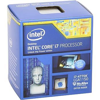 Intel Core i7 4770K Quad Core Retail CPU (Socket 1150, 3.50GHz, 8MB, Haswell, 84W, Intel Graphics, BX80646I74770K, 4th Generation Intel Core, Turbo Boost Technology 2.0)