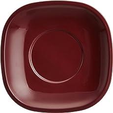 Signoraware Plastic Quarter Snack Plate Set, Set of 6, Maroon