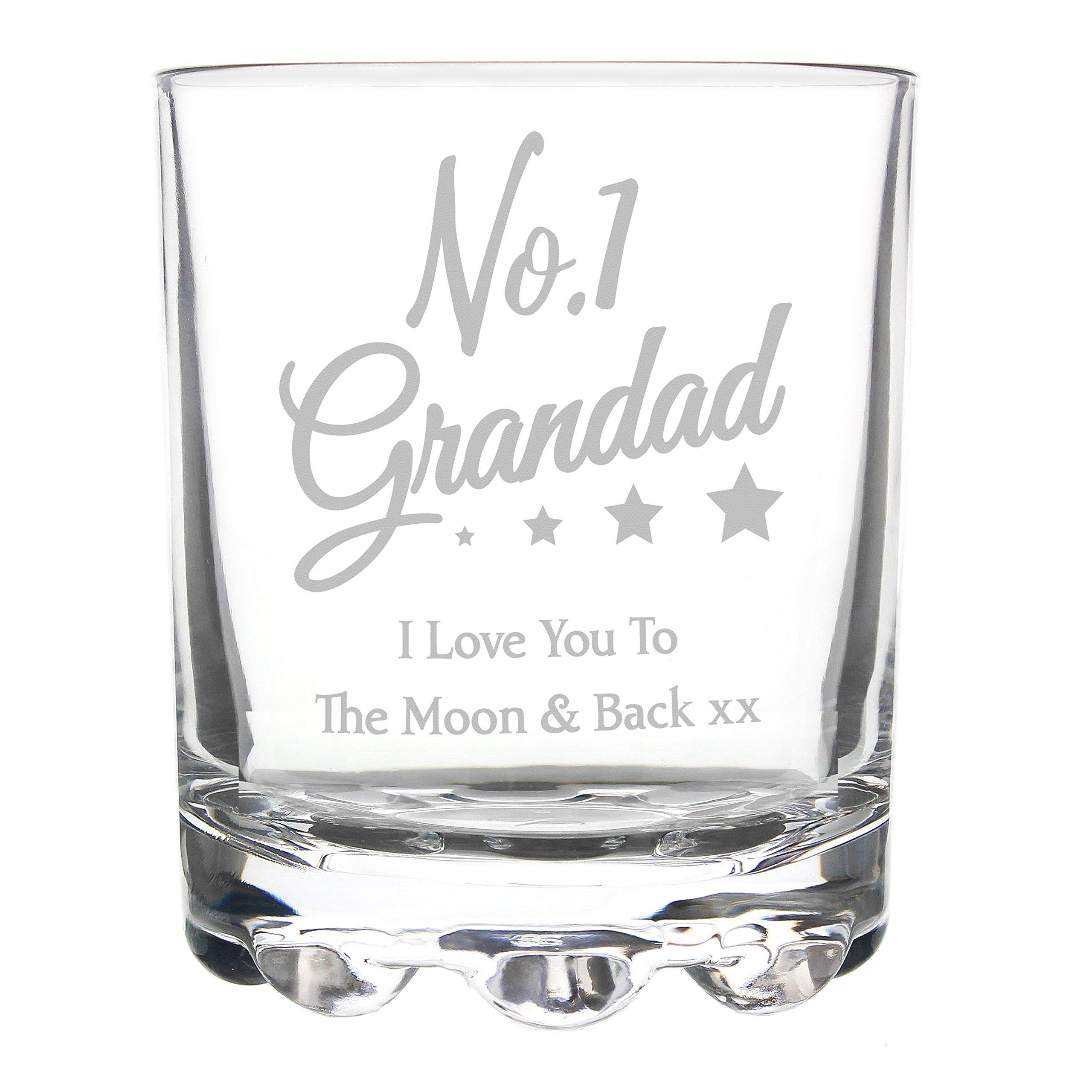 Bicchiere Di Vetro Da Whisky Scritta In Inglese No1 Grandad I