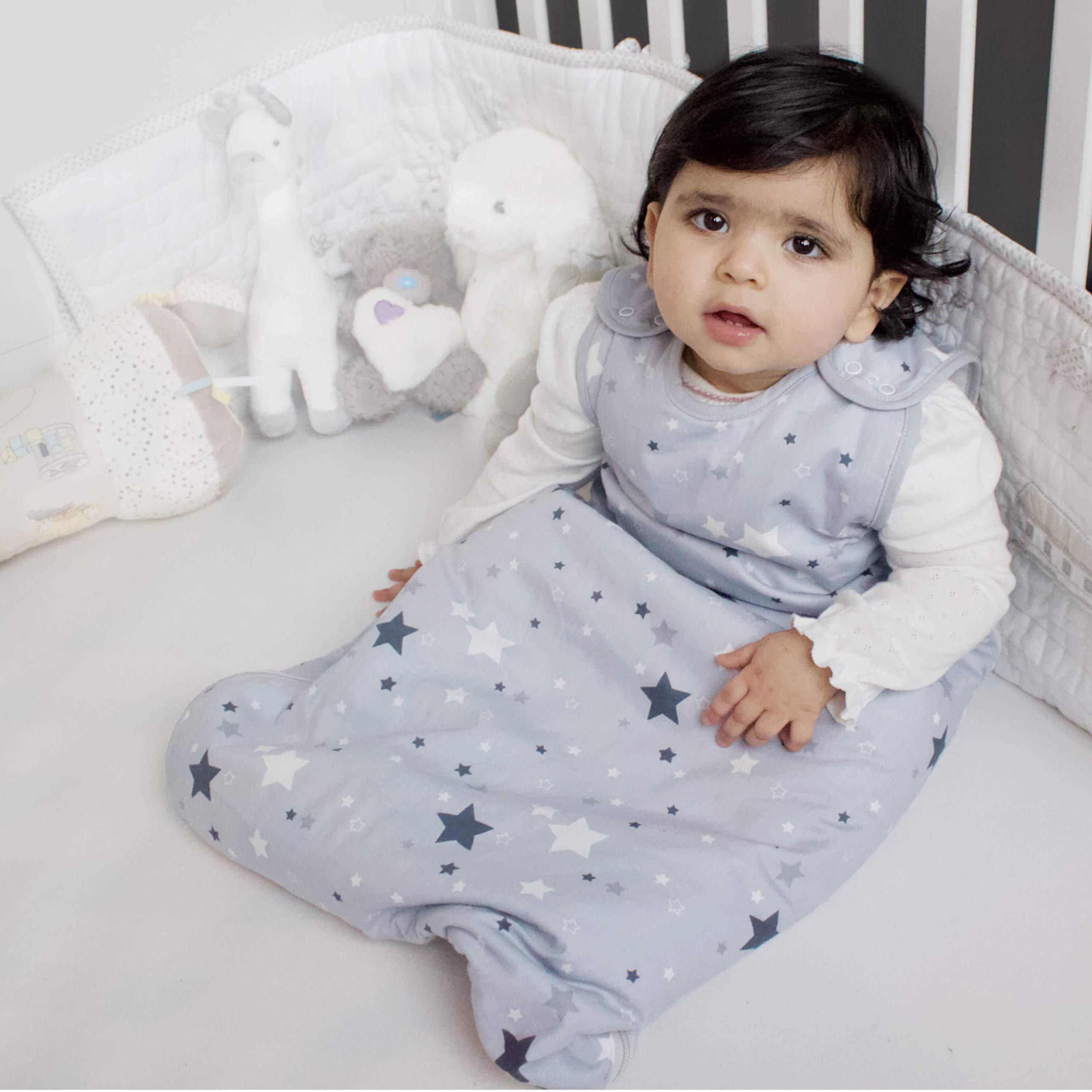 Saco de dormir para reci/én nacidos Saco de dormir para beb/és de tog 2,5 Be Babe 0-6 meses camas y viajes Doble cremallera Estrella Rosa Mantas envolventes para cunas beb/é ni/ñas