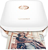 HP Sprocket Imprimante Photo portable (Bluetooth, Impression Couleur sans Encre 5 x 7,6 cm) Blanc