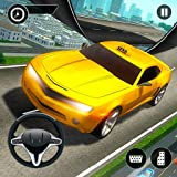 Verrückte Taxi Mega Rampe Stunt Extreme Simulation 3D: Autofahren & Parken Race Zone Abenteuer Mania Simulator Spiel