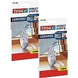TESA Comfort Refill Roll Vliegengaas Velcro reserverol, blanco (2x 5,6m (standaard))