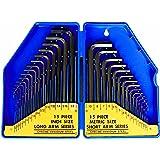 S&R Inbussleutel set HX, 30 stuks 0,7-10 mm, metrisch en 0,028 tot 3/8, inch, in kunststof doosje