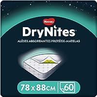 Huggies, Alèses absorbantes jetables pour lit simple (88 x 78 cm), Pour enfants de 3 à 15 ans, 60 alèses (5 x 12 unités…