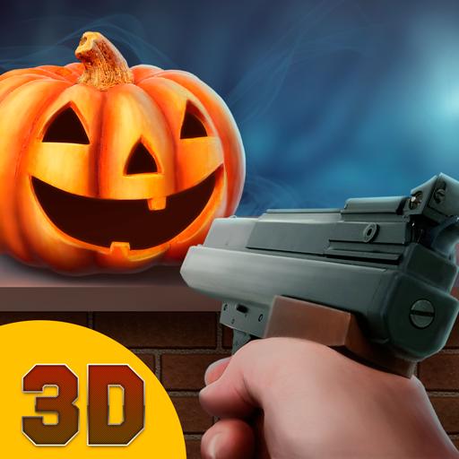 Halloween Holiday Pumpkin Shooter 3D: Crazy Halloween Pumpkin Smash Shooting Game | Halloween Hangman Pumpkin Gun Shooting