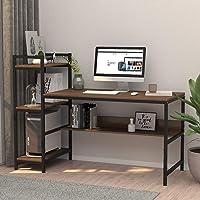 Dripex Holz Schreibtisch mit Ablage Computertisch, PC-Tisch Bürotisch Officetisch Stabile Konstruktion Tisch für Home…