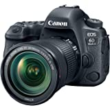 Canon EOS 6D Mark II SLR-Digitalkamera (26,2 Megapixel, 7,7 cm (3 Zoll) Display, DIGIC 7, mit WLAN/NFC/Bluetooth und GPS) Kit inkl. EF 24-105mm IS STM Objektive schwarz