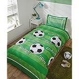 Rapport Football Parure de lit Simple en Polyester Vert