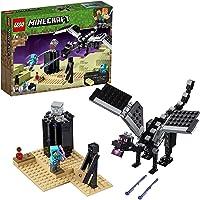 LEGO 21151 Minecraft La Bataille de l'End, Jouet à Collectionner