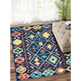 Status 3 x 5 Feet Multi Printed Vintage Persian Carpet Rug Runner for Bedroom/Living Area/Home with Anti Slip Backing