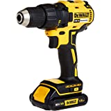DEWALT 18V 13mm Compact Drill Driver,Brushless, 2 x 1.5Ah batteries, charger and kit box, Yellow/Black, DCD777S2-GB, 3 Year W