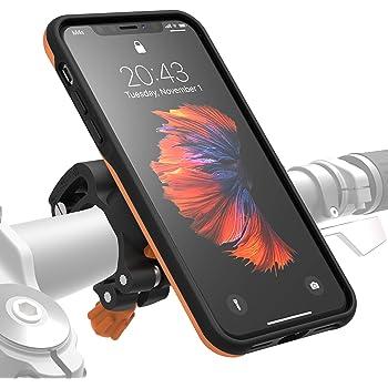 MORPHEUS LABS M4s BikeKit iPhone X Bike Kit - Fahrrad Handyhalterung & iPhoneX Hülle, US-Militärstandard DropTest Zertifiziert, Fahrradhalterung mit patentiertem Magnet-Verschluss, orange
