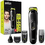 Braun Recortadora MGK3221 6 en 1, Máquina recortadora de barba, cortapelos, recortadora facial, para nariz y orejas para homb