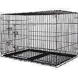 Zelsius Transportkäfig   Hundebox   Hundekäfig   Drahtkäfig für Hund Katze klein bis groß   S - XXL   mit 2 Türen   faltbar