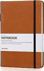 Bullet Journal/Notizbuch Dotted - A5 Hardcover Punkt Notebook mit Pen-Schleife - Premium Dicke Papier 125g / m² - Seite Teiler Geschenke - Lemome