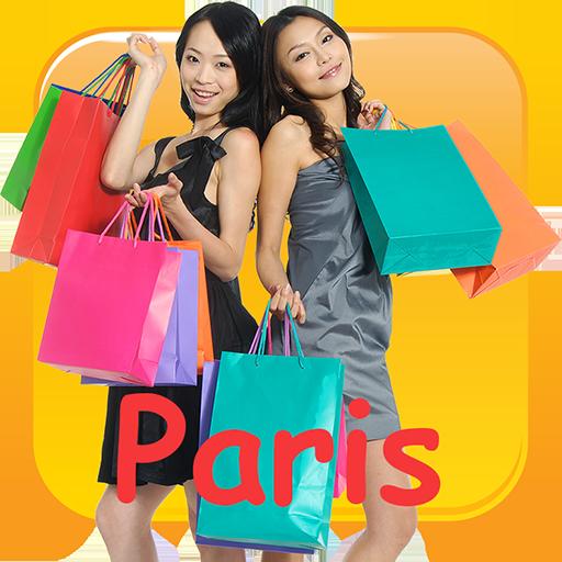 (Frauen beim Einkaufen in Paris)