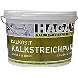 HAGA Calkosit Kalkstreichputz auf Sumpfkalkbasis für Innen, weiss natur, 25 kg