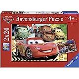 Ravensburger - 08959 - Puzzle Enfant Classique - Nouvelle Aventure - Cars 2 - 2 x 24 Pièces