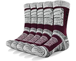 YUEDGE Men's 5 Pairs Athletic Socks Breathable Cushion Comfortable Casual Crew Socks Performance Multi Wicking Workout Sports