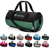 sports bag gym bag 25 L holdall shoe compartment pocket men women duffel shoulder fitness bag swimming pool travel…