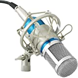 Powerpak BM 800 Blue Professional Condenser Microphone with Metal Shock Mount (requires phantom power or sound card)