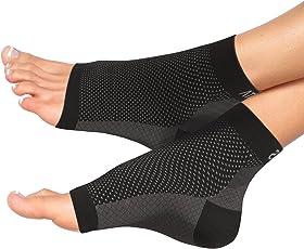 Fersensporn Bandage - Atlas Fußbandage - Schmerzlinderung bei Plantarfasziitis, Knöchelschmerzen und Schwellungen - Premium Kompressionssocken für Männer & Frauen