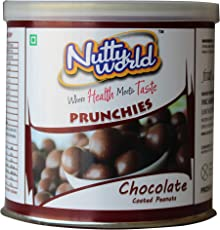 NuttyWorld Chocolate Coated Peanuts, 175 g