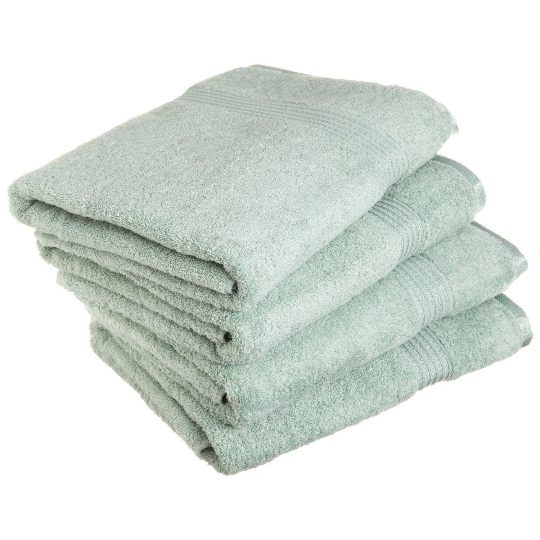 Superior - Set di asciugamani da bagno, cotone egiziano, salvia, 4 pezzi