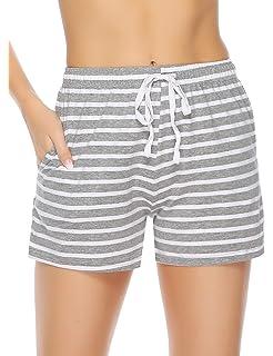 Abollria Donna Pigiama Pantaloni Corti in Cotone al 95/% Pantaloncini Donna per Sport Corsa Casa Hotel
