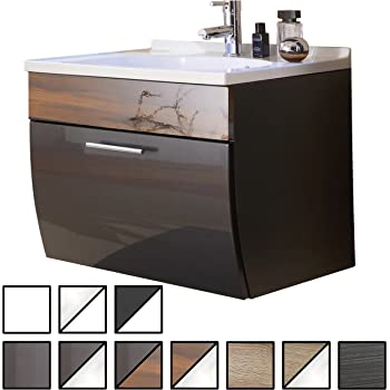posseik salona waschplatz holz anthrazit walnuss 70 x 49 5 x 51 cm k che haushalt. Black Bedroom Furniture Sets. Home Design Ideas