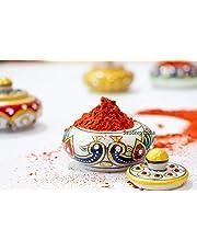Saudeep India's Marble Kumkum Box Dabbi Dhani Meenakari Work Multipurpose Attractive Trending Decorative Kumkum Box