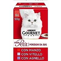 PURINA GOURMET MON PETIT Umido Gatto Selezione Prelibata con Carni, con Manzo, Vitello e Agnello - 48 buste da 50g…