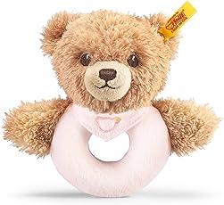 Steiff 239557 - Schlaf Gut Bär Greifring, 12 cm, rosa
