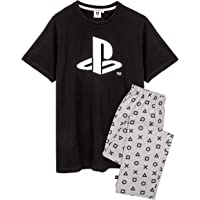 Playstation Pyjamas For Men | Black Short Sleeve T Shirt With Grey Long OR Short Trousers Gamer PJs | Game Console…