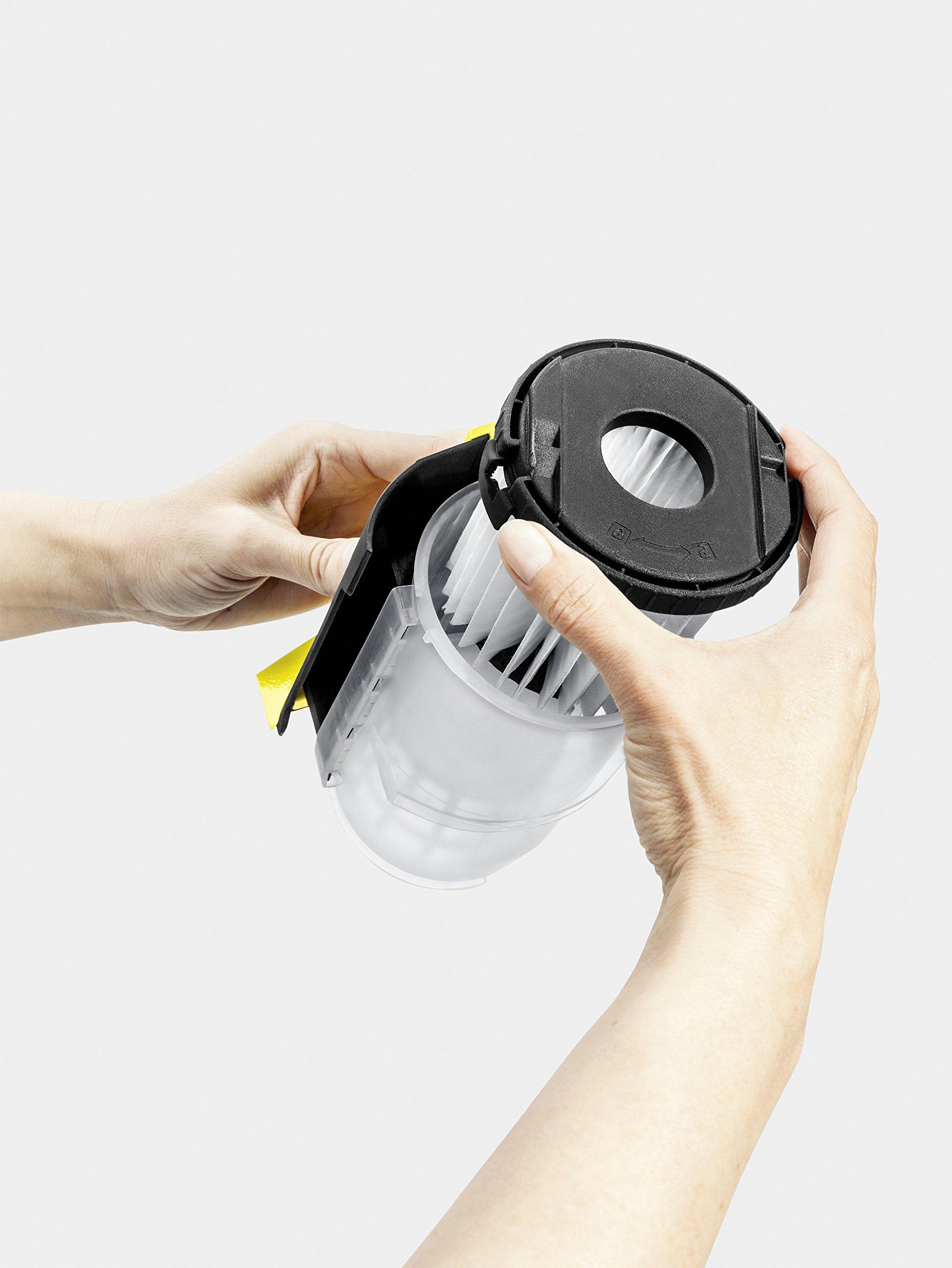 Kärcher Kompaktsauger VC 5 inkl. Zubehör, Boden-Staubsauger beutellos, Reinigungsgerät für Treppen, Teppiche & Co…
