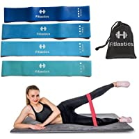 Fitlastics Resistance Loop Bands Set for Squats, Stretching, Strength Training Exercises, Hips & Glutes Heavy Workouts for Men & Women