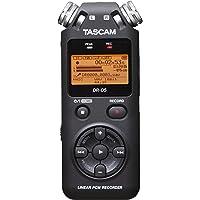 TASCAM DR-05 V2 Enregistreur portable stéréo PCM/MP3, tenant dans la main, haute qualité, Noir