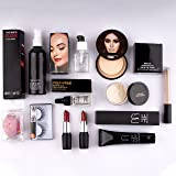 AP Home Decor Makeup kit combo pack of 11, Essential Oil, Face Primer, foundation, Concealer, Loose Powder, Blender, Makeup F
